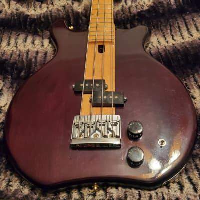 S.D. Curlee/Hondo II Yankee Bass 1980s Deep Burgundy Gloss for sale