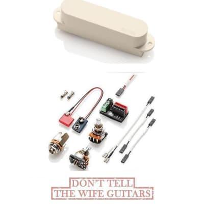 EMG S Single Coil Ivory Strat Fender Stratocaster Active Replacement Pickup Ceramic Bar Magnet