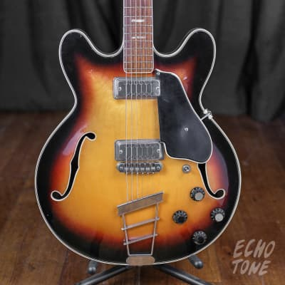1960s Elite Crucianelli Hollow Body (Made in Italy, Sunburst) for sale