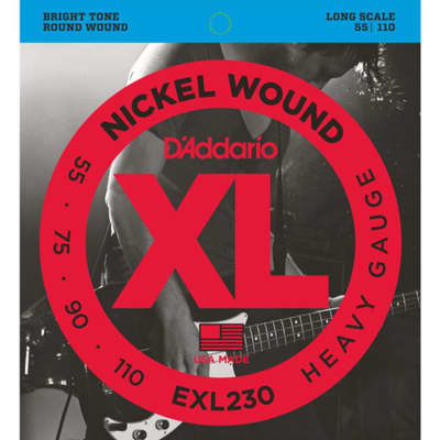 D'Addario EXL230 Nickel Wound Bass Strings - 55-110