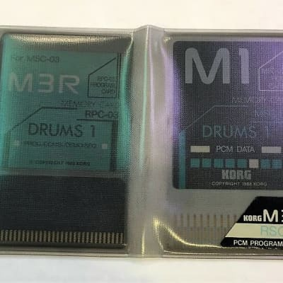 Korg M3/M1 MSC-03 and RPC-03 Drums 1 Rom Card Set