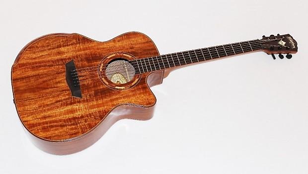 washburn wcg55ce koa acoustic electric guitar reverb. Black Bedroom Furniture Sets. Home Design Ideas