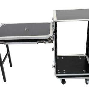 OSP RC16U-20SL 16 Space ATA Amp Rack Road Case w/ Standing Lid Table
