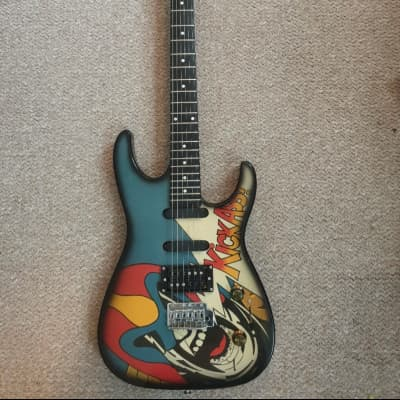 Rockster KickAss Powerstrat 1988 Painted for sale