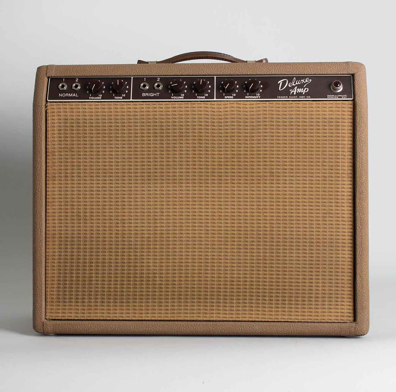 Fender  Deluxe 6G3 Tube Amplifier (1961), ser. #D-00945.