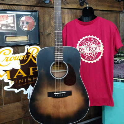 Aria-111DP Delta Player Series Muddy Brown Dreadnought  Muddy Brown for sale