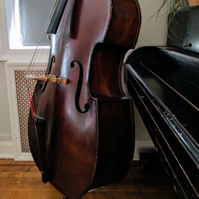 German Double Bass Upright Bass 1850 Brown
