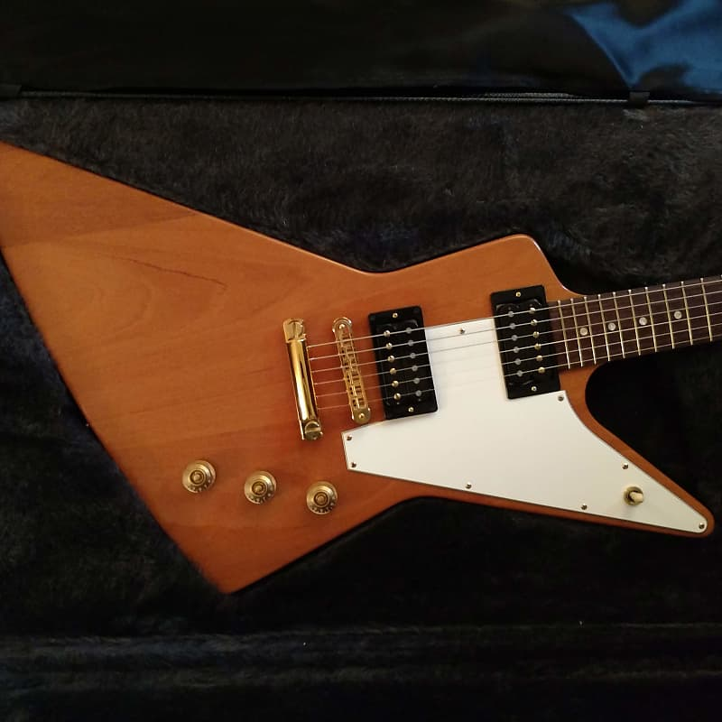 gibson explorer 39 76 reissue 2004 natural with original reverb. Black Bedroom Furniture Sets. Home Design Ideas