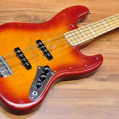 Fender '75 Reissue Jazz Bass Japan 1985 Cherryburst for sale