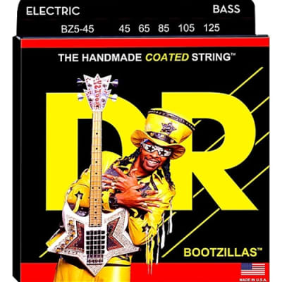 DR Bootsy Collins Bootzillas Signature Coated Bass Guitar Strings 45-105