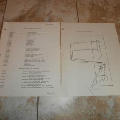vintage early 1970's fender telecaster replacement parts list & wiring  diagram!