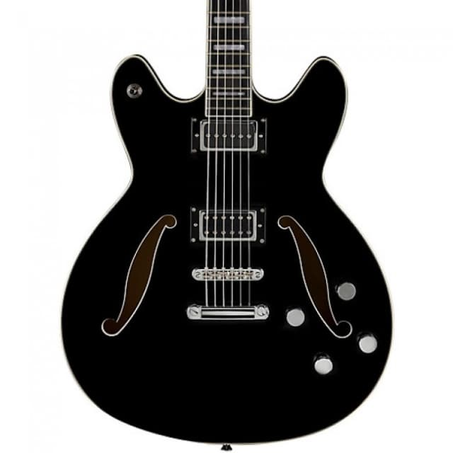 Hagstrom Viking Deluxe Series VIDLXBARI-BLK Electric Guitar, Black Gloss, New, Free Shipping image