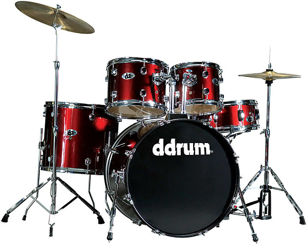 d2 by ddrum complete drum set ready to play in red d2 br reverb. Black Bedroom Furniture Sets. Home Design Ideas