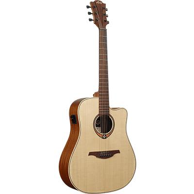 LAG T70DCE Dreadnought Canadian Spruce Top Electro Acoustic Cutaway Guitar for sale