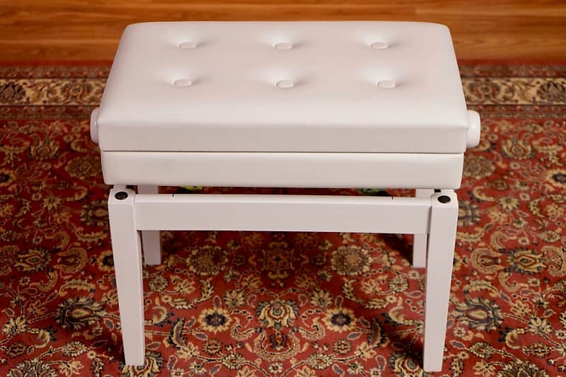 Astonishing Beale Bpb220Wh Piano Bench Adjustable With Storage Polished White Short Links Chair Design For Home Short Linksinfo