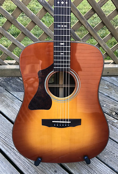 Acoustic Electric Guitars Guild Gad-m20 Acoustic Guitar With Lr Baggs Pickup Musical Instruments & Gear