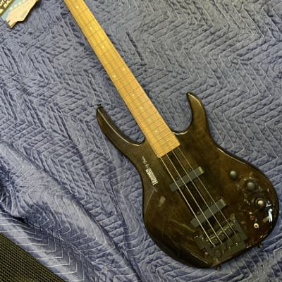 Hohner B Bass Active 4 String Trans Gloss Black with D tuner Korea for sale