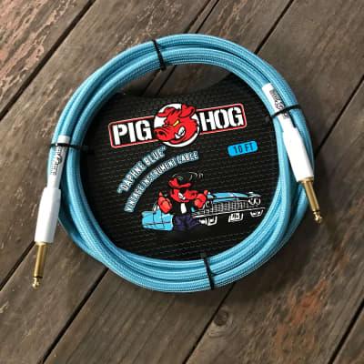 """PIG HOG """"DAPHNE BLUE"""" Instrument Cable 10ft"""