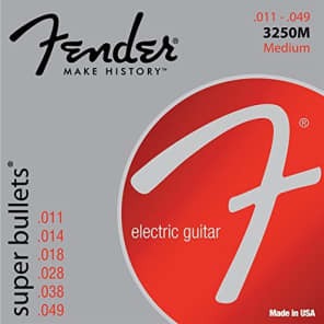 Fender 3250M Super Bullets Electric Guitar Strings Set - MEDIUM 11-49 for sale