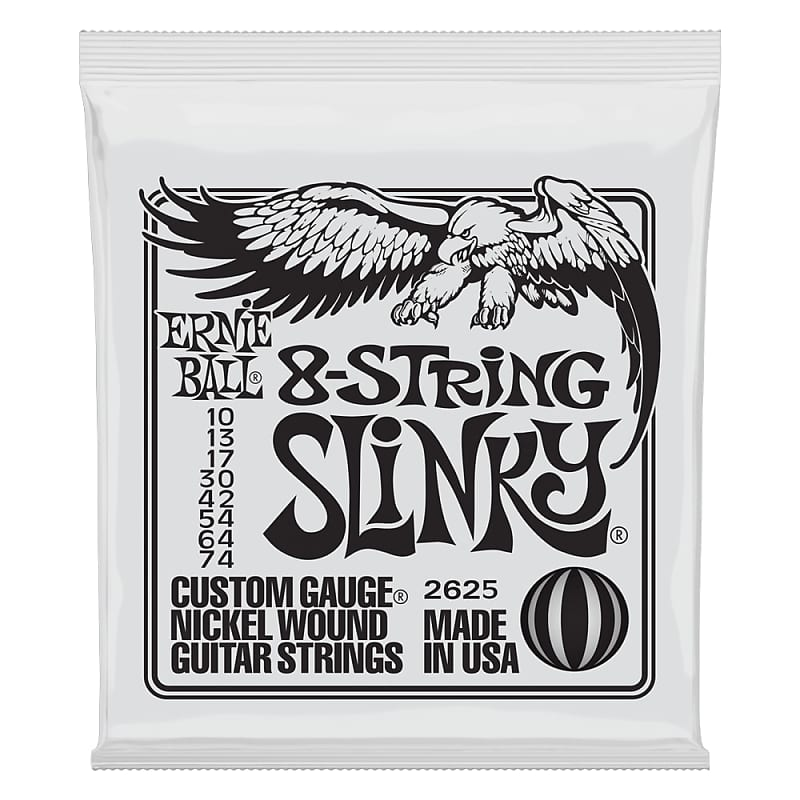 Ernie Ball 8-String Slinky Nickel Wound Electric Guitar Strings 10-74 Gauge