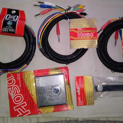 Hosa recording cables, STX804F, TRS-803, MMH-472 mic holder