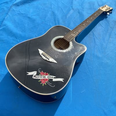 Esteban ROCK-ON Crystal Heart Limited Edition Acoustic Electric Guitar w/ Case & DVD for sale