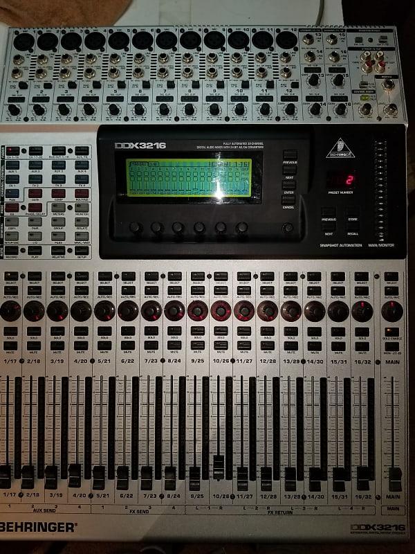behringer ddx3216 fully automated 32 channel digital mixer reverb. Black Bedroom Furniture Sets. Home Design Ideas