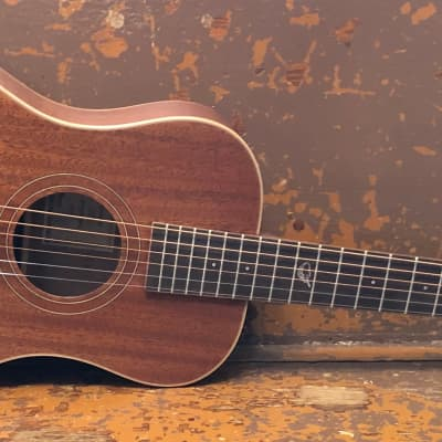 Journey Overhead OF312 Travel Acoustic Guitar - Solid Mahogany, Collapsible, w/ Pickup & Carry Bag for sale
