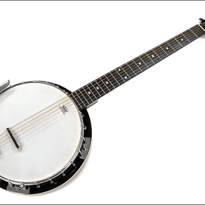 Trinity River PRB600 Mahogany Resonator 6-String Banjo-Tar w/Remo's Head for sale