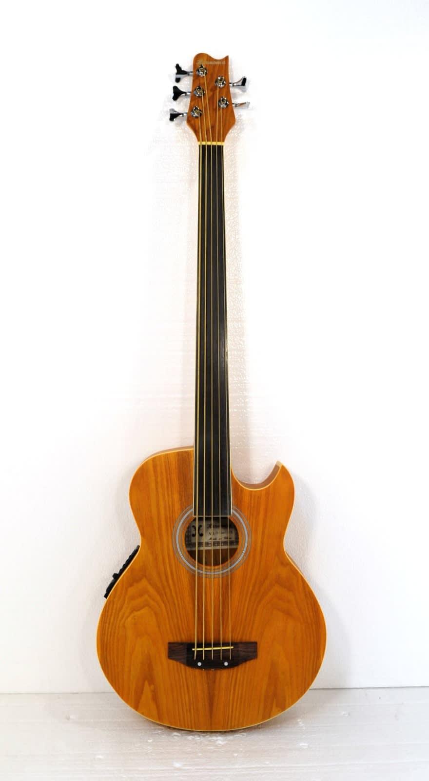 fretless 5 string acoustic electric bass mangolulu15 reverb. Black Bedroom Furniture Sets. Home Design Ideas
