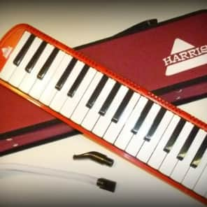 Deluxe Harris Musical Red Melodica with Matching Red Deluxe Case