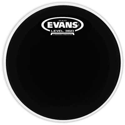 Evans TT10MXB MX Black Marching Tenor Drum Head - 10""