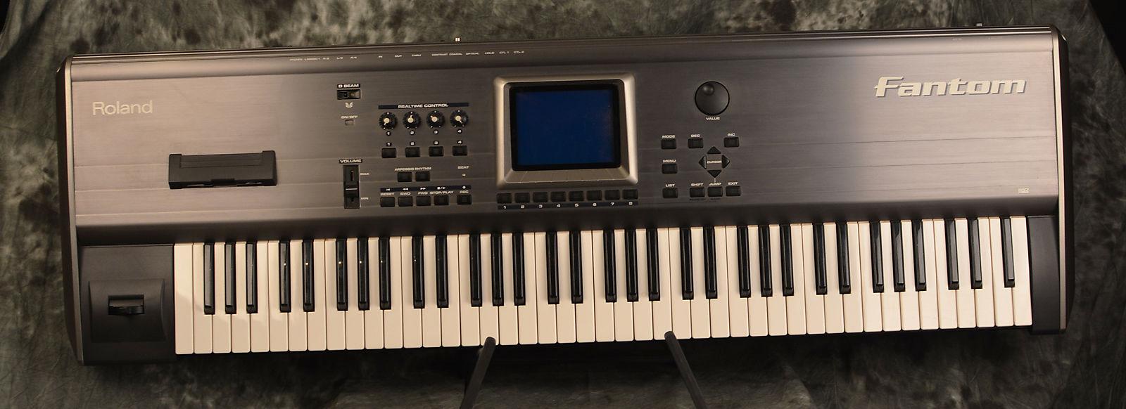 roland fantom fa76 76 key workstation keyboard reverb. Black Bedroom Furniture Sets. Home Design Ideas