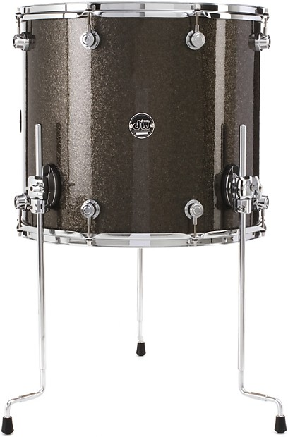 Dw performance series floor tom 16 x18 pewter reverb for 18 inch floor tom for sale