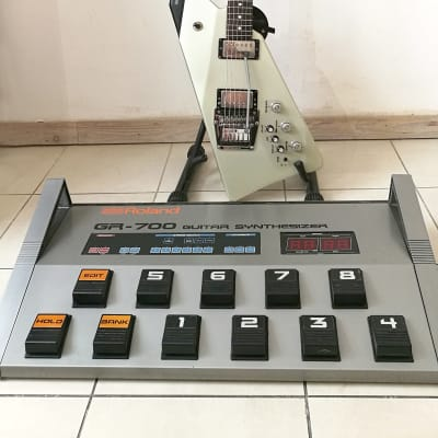 Roland G-707 + GR-700 1984 silver (rare guitar synth from early 80s)