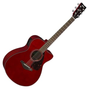 Yamaha FSX800C Acoustic-Electric Guitar Ruby Red