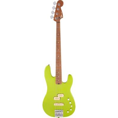 Charvel Pro-Mod San Dimas Bass PJ IV CM Lime Green Metallic Electric Bass Guitar for sale