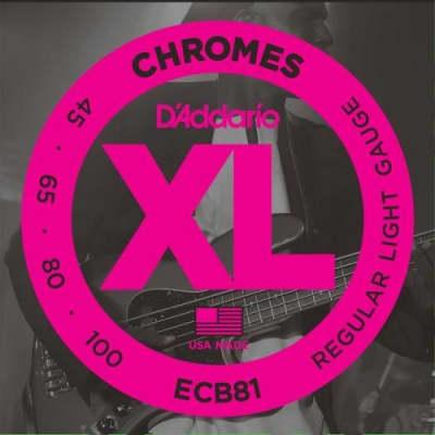 D'Addario Chromes Flatwound Bass Strings (Regular 45-100)