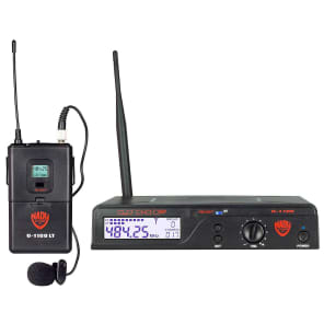 Nady U-1100-LT 100-Channel UHF Wireless Lavalier Microphone System (B Band)