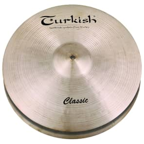 "Turkish Cymbals 14"" Classic Series Classic Hi-Hat Flat Hole C-HF14 (Pair)"