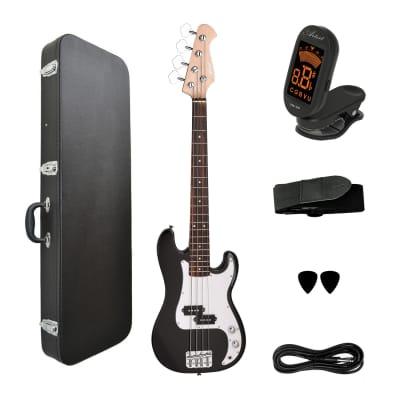 Artist MiniP 3/4 Size Electric Bass Guitar + Accessories + Hard Case for sale