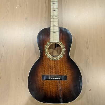 Regal Parlor Guitar with Pearloid Fretboard 1930's Sunburst for sale
