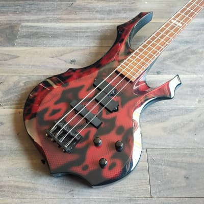 Edwards Japan (by ESP) F Series Electric Bass Guitar (Red Snakeskin) for sale