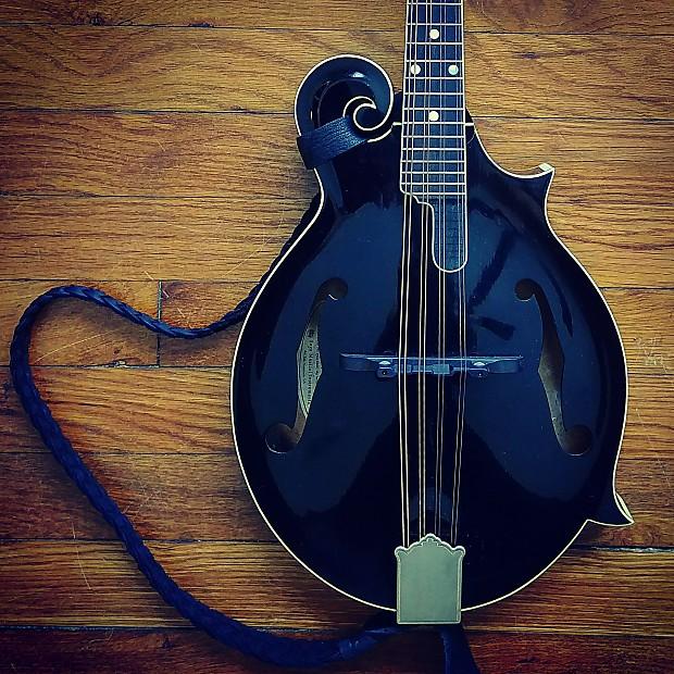 Rare Kentucky KM1000 Black Top Mandolin  James Tailpiece and Cumberland  Bridge Upgrades!
