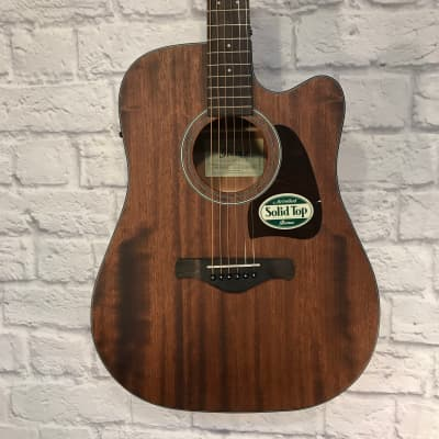 Ibanez Aw535nt Artwood Solid Top Dreadnought Acoustic Guitar Natural New Guitars & Basses Acoustic Electric Guitars