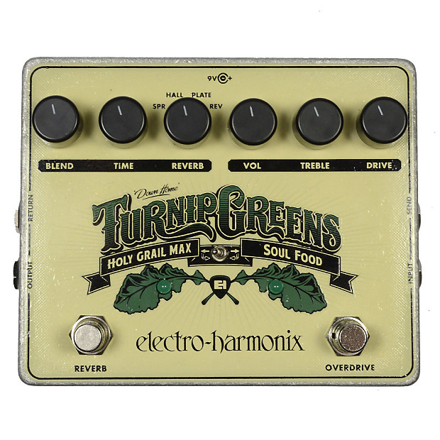 electro harmonix turnip greens multi effects pedal w soul reverb. Black Bedroom Furniture Sets. Home Design Ideas