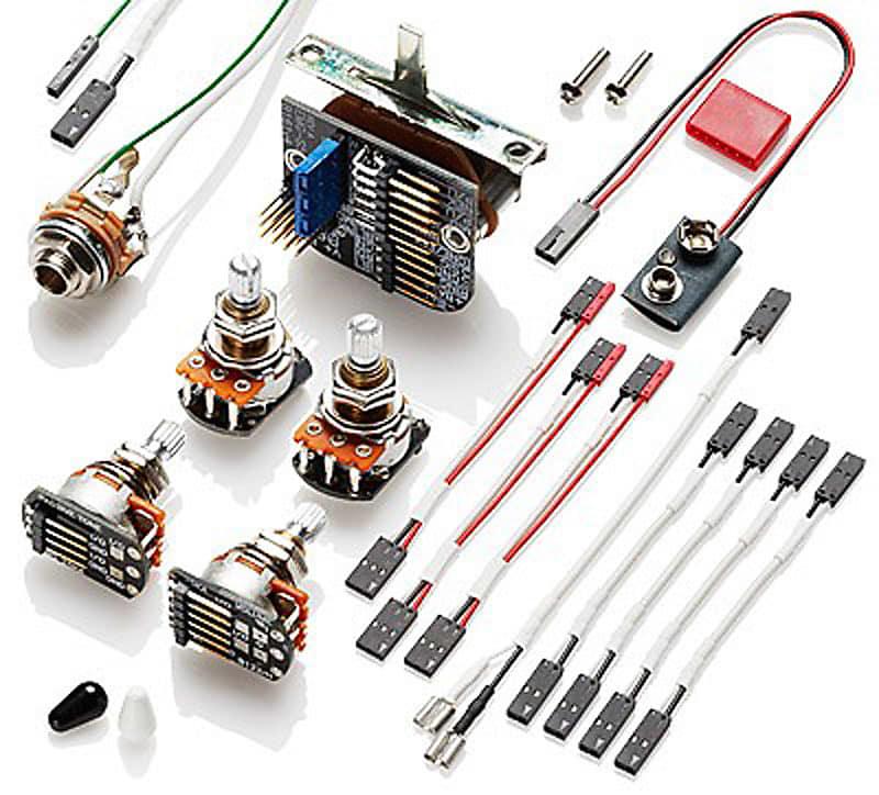 emg 3 pickup conversion wiring kit solderless lv guitars reverb. Black Bedroom Furniture Sets. Home Design Ideas