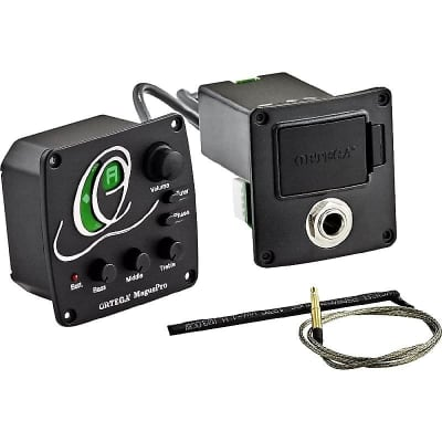 Ortega Guitars MagusPRO/B Acoustic Bass Systems Piezo Bass Preamp System w/ Built-In Tuner & Video for sale