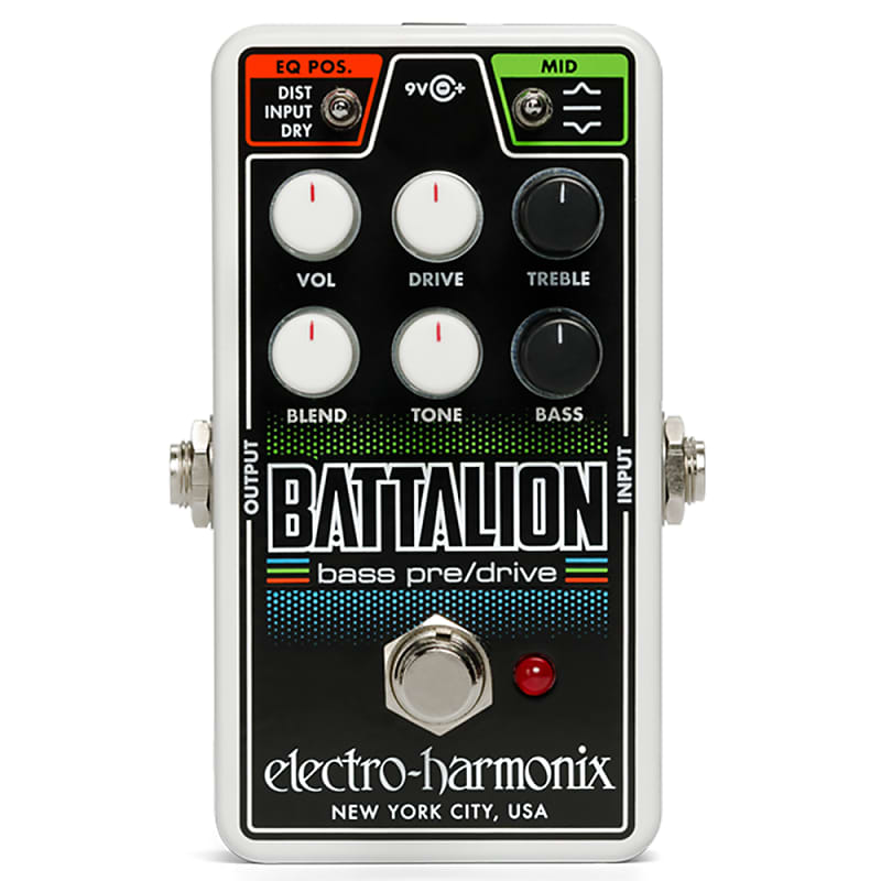 electro harmonix ehx nano battalion bass preamp overdrive reverb. Black Bedroom Furniture Sets. Home Design Ideas
