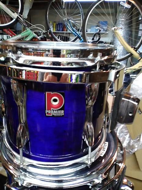 6 piece premier xpk drumset 1990 39 s saphire blue reverb. Black Bedroom Furniture Sets. Home Design Ideas